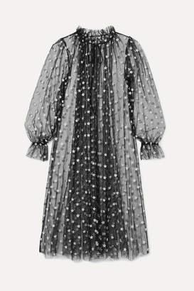 Le Petit Trou - Sort Glittered Stretch-tulle Robe - Black