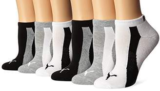 Puma Women's 1/2 Terry Low Cut Athletic Running Sock 6-Pack