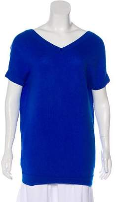 Theory Cashmere Short Sleeve Top