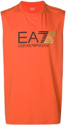 Emporio Armani Ea7 logo print tank top
