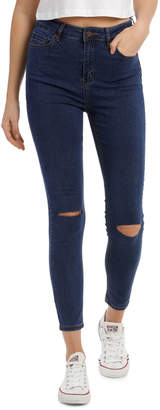 Miss Shop Riley Super High Waist Skinny Jean - Knee Slash