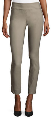 NIC+ZOE Slim Wonderstretch Pants, Mushroom $128 thestylecure.com
