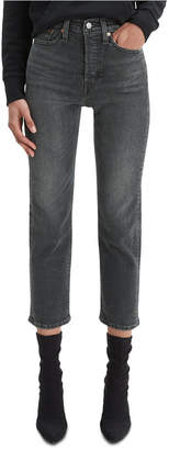 Levi's Cropped Button-Fly Jeans