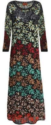 Missoni Embroidered Crochet-Knit Midi Dress