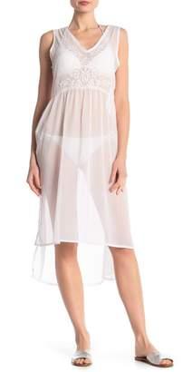 e921c55094c BOHO ME Sheer Embroidered Cover-Up Dress