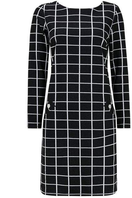 Black Check Jacquard Dress