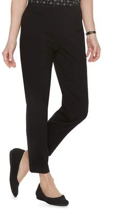 Croft & Barrow Petite Polished Pull-On Ankle Pants