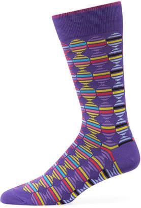 Duchamp Men's Striped/Circle Cotton Socks