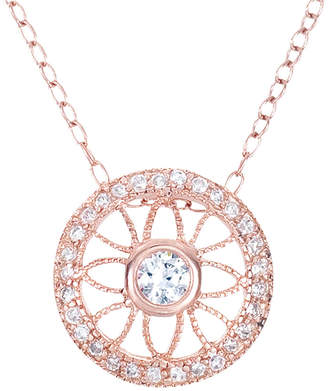 Genevive 18K Rose Gold Over Silver Cz Necklace
