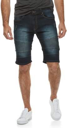 X-Ray Xray Men's XRAY Slim-Fit Moto Stretch Denim Shorts