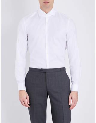 HUGO BOSS Slim-fit cotton-poplin shirt