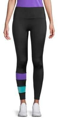 Sneaker Length Striped Logo Leggings