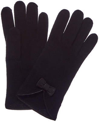 Portolano Cashmere Leather-Trim Cashmere Glove
