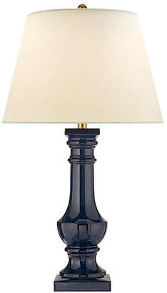 Visual Comfort & Co. Balustrade Round Table Lamp - Blue-Brown