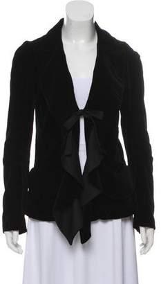 1cbb30654e4 Velvet Ruffle Jacket - ShopStyle Australia