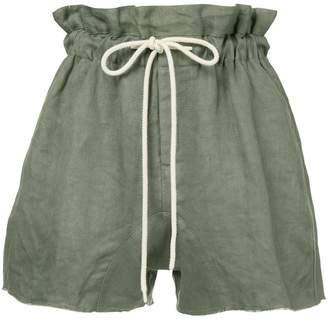 Bassike paper-bag shorts