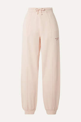 Acne Studios Felodie Embroidered Cotton-terry Track Pants - Pastel pink