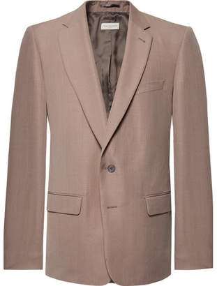 Dries Van Noten Pink Barlow Oversized Woven Blazer
