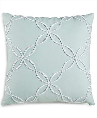 """Charter Club Damask Designs Outline Embroidered 18"""" Square Decorative Pillow, Created for Macy's Bedding"""