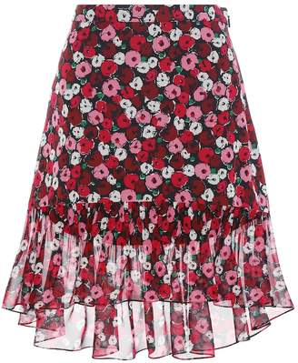 7c288ce98a1 Saint Laurent Floral-printed silk skirt