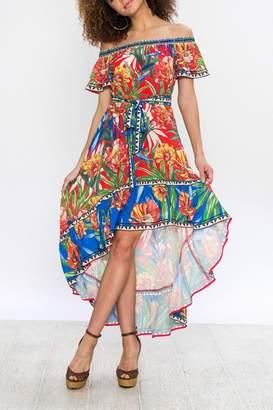 Flying Tomato Hi-Low Print Dress