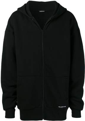 Balenciaga Double layered zip up hoodie