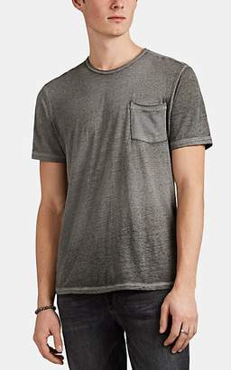 John Varvatos Men's Cotton-Blend Burnout Jersey T-Shirt - Olive