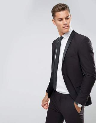 Selected Skinny Tuxedo Suit Jacket With Satin Lapel