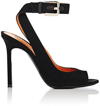 Walter De Silva Women's Textured Satin Crisscross-Strap Sandals $885 thestylecure.com