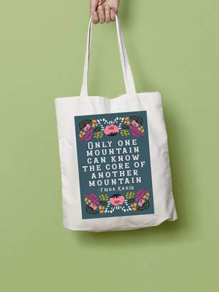 Stephanie B Designs Frida Kahlo Mountain Quote Illustration Tote Bag