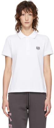 Kenzo White Tiger Crest Polo