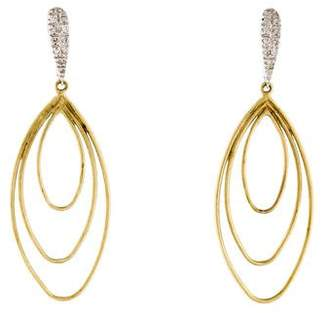 Meira T 14K Diamond Drop Earrings