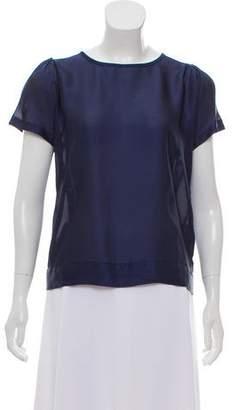 United Bamboo Polka Dot Short Sleeve Blouse