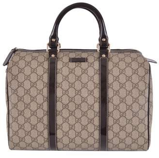 Gucci Women's Brown GG Supreme Canvas Boston Purse Satchel