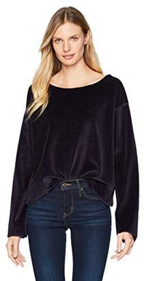 KENDALL + KYLIE Women's Off Shoulder Velour Top