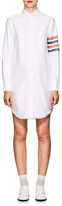 Thom Browne Women's Fringed Cotton Oxford Shirtdress