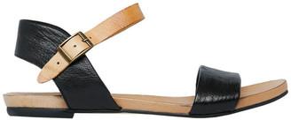 Jungle Black/Tan Strap Sandal