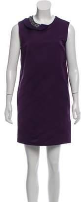 3.1 Phillip Lim Sleeveless Shift Mini Dress Purple Sleeveless Shift Mini Dress