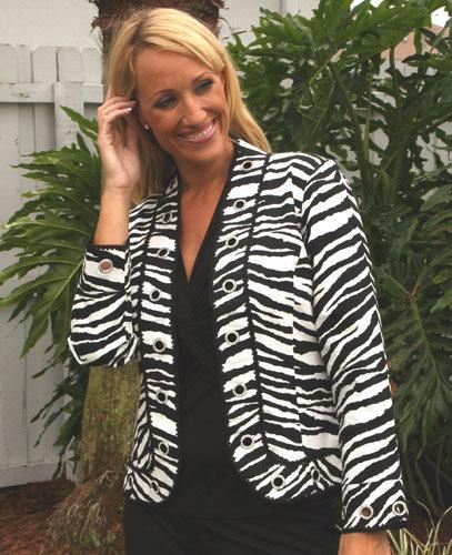 Berek Studded Zebra Jacket