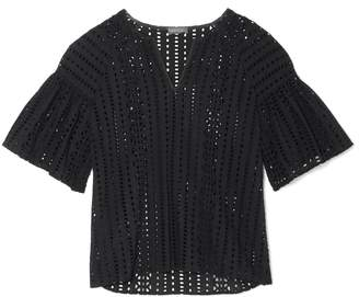 Vince Camuto Eyelet Bell-sleeve Top