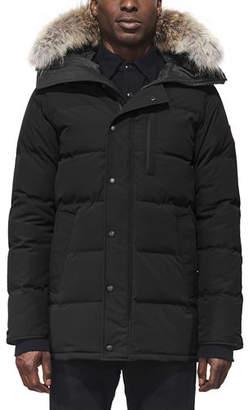 Canada Goose Men's Carson Fusion-Fit Down Parka Coat with Fur-Trim Hood
