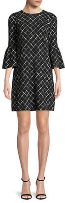 Calvin Klein Diamond-Print Shift Dress