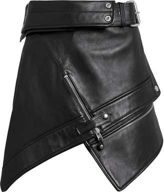 Alexander Wang Deconstructed Moto Mini Skirt