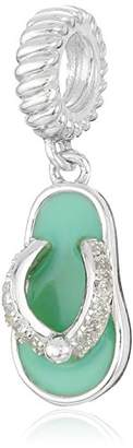 Swarovski Chamilia Sterling Silver and Zirconia Toes in the Sand Bead Charm