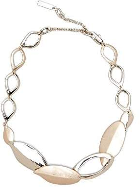Kenneth Cole New York Textured Metals Gold Leaf Collar Necklace