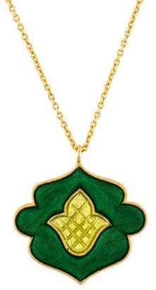 Amrapali 18K Enamel Pendant Necklace