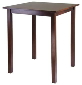 Winsome Parkland Square High Table, Antique Walnut