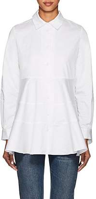 Co Women's Flared Cotton Poplin Blouse - White