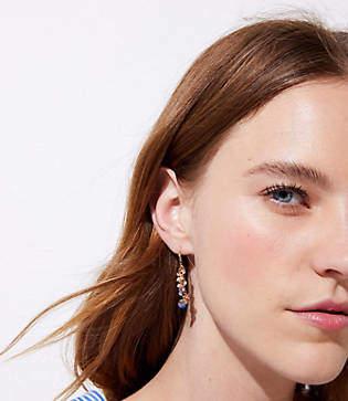 LOFT Beaded Cluster Drop Earrings