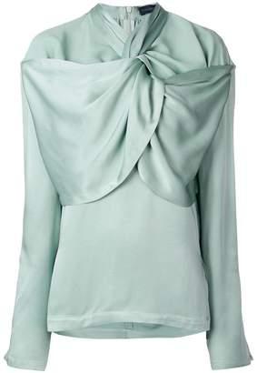 Eudon Choi gathered neckline blouse